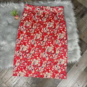 Antonio Melani Floral Belted Pencil Skirt  Sz 8